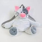 Детский рюкзак Кот, котенок, мягкая игрушка