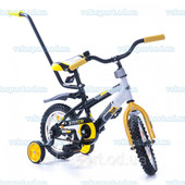 """Велосипед Azimut Stitch Premium 12"""" (с родительской ручкой) Большой выбор велосипедов"""