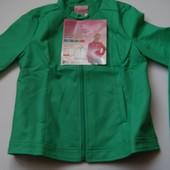 Фирменная куртка кожа ПУ для девочки подростка, р.158/164