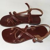 сандалии кожаные 39