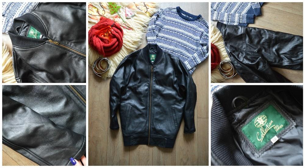 Натуральная мужская кожаная куртка р-р М фото №1