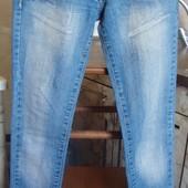 джинсы голубые Denim S 36/26 98%котон, 2%эластан