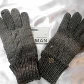 Перчатки вязанные мужские Broadway 2 цвета. Оригинал! Одни на выбор.