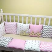 Бампер-защита для детской кроватки