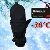 Лыжные мужские рукавицы со встроенной тонкой перчаткой Thinsulate80 Walmart Сша