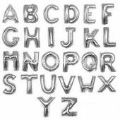 Фольгированные буквы Серебро 100см.