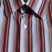цветная рубашка длинный рукав мужская р.L на рост 182. хлопок хорошее состояние