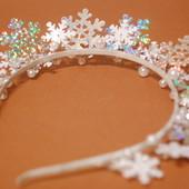 Новогодние ободки Снежинка