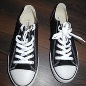 Кеды черные с белой подошвой текстиль George р 42