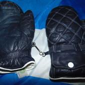 Фирменние кожание теплие варежки рукавици перчатки Werner zenier