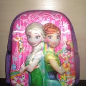 Детский  плюшевый  рюкзачок  Frozen с 3 D изображением , Холодное сердце