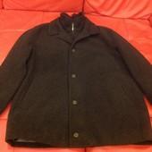 Шерстяное мужское пальто-куртка, новое, р.58