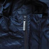 Мужская куртка дождевик ветровка на молнии темно синяя с капюшоном Dickies M L