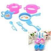 Набор посуда кастрюля, сковородка, чайник для Barbie и других кукол.