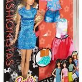 Набор кукла барби и одежда Barbie fashionistas doll & fashions lacey blue модницы фашионистас