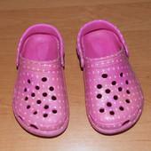 Фирменные кроксы для девочки, размер 10 (17,5 см)