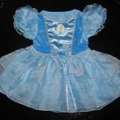 нарядное пышное платье Золушка Disney 9-12 мес состояние отличное