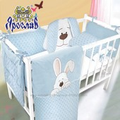 Красивая защита в кроватку вместе с постелькой