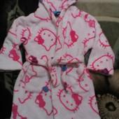 Махровый халат девочке Китти на 4-5 лет George