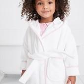 Натуральний білий халат NEXT для дівчат 9 міс.-8 років, під замовлення