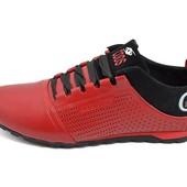 Мужские кроссовки с перфорацией Cuddos Sport Advance красные