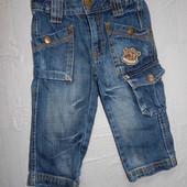 12-18 мес., джинсы, Topolino джинсики в хорошем состоянии