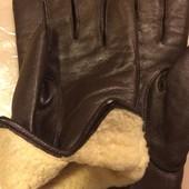 Мужские перчатки! Большие , кожа, овчина!