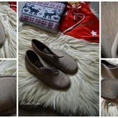 Стильные новые ботинки Clarks-замш,р-р 43,5