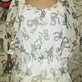 Блуза летняя с бантиками р.М