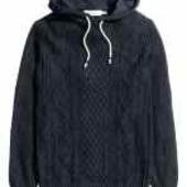 Шерстяной свитер худи H&M