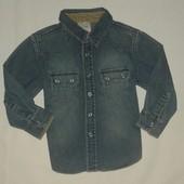 Джинсовая рубашка  ( 1,5-2 г. )