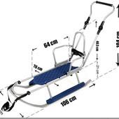 Санки Adbor Piccolino X-Drive с регулируемой ручкой и спинкой