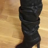 Сапоги зимние на каблуке Basconi 37 размер