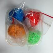 Шариковый пластилин 4 цвета по 12 грамм в баночке