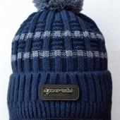 Зимняя шапка для мальчика Полушерсть   от 2-5 лет