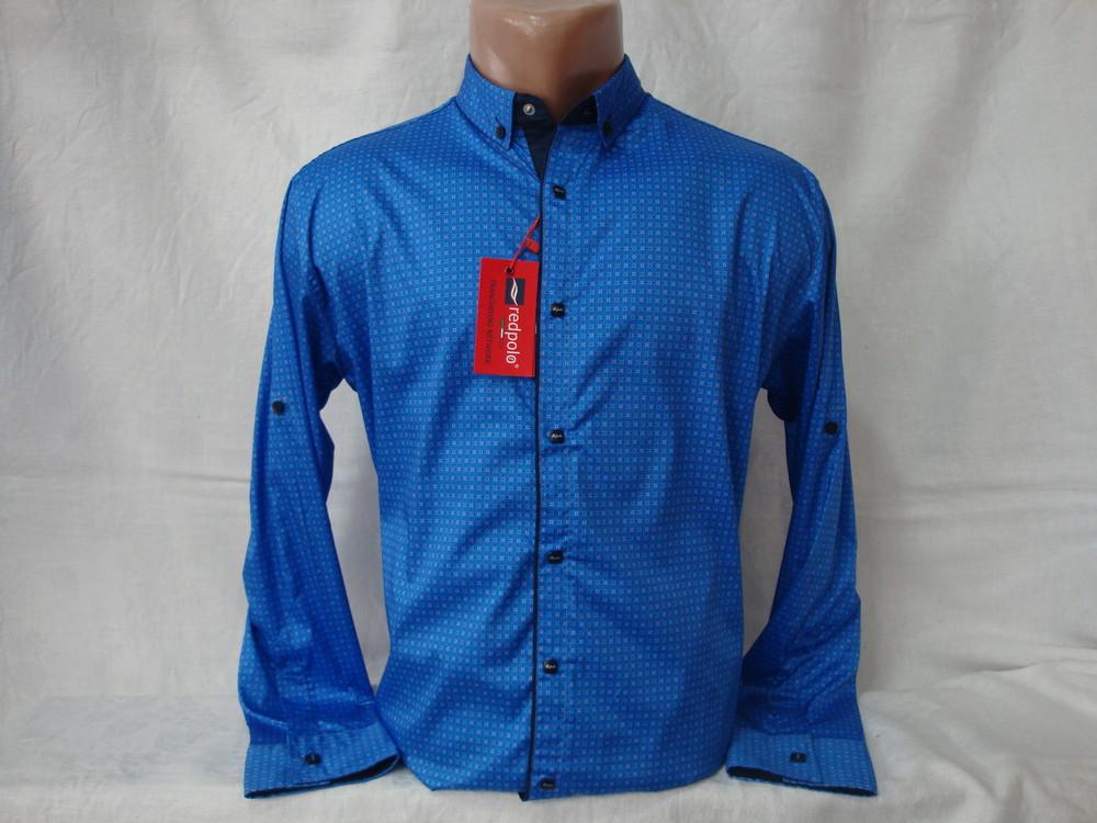 Мужская рубашка с длинным рукавом на кнопках redpolo, турция. разные цвета. фото №1