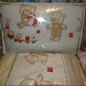 высокая защита в детскую кроватку защитное ограждение бампер бортики на молнии и постель Мишки