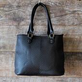 Стильная строгая коричневая женская сумка кожзаменитель купить недорого