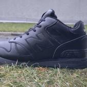 Мужские кожаные кроссовки  New Belance  зима