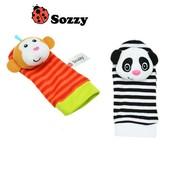 Носочки и браслетики-погремушки Панда и Обезьянка