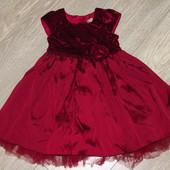 шикарное нарядное платье на 1.5-2 года (92см). Фирма Некст. Как новое.