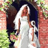 Картина по номерам Turbo Свадебный ангел VP454