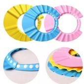 Козырек детский шапочка для купания мытья головы регулируемый на кнопочках