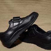 Шикарные черные кожаные полуботинки Waldlaufer W. K Германия 7 1/2 р.