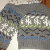 Шапка + шарфик осень-зима 1,5-2,5года