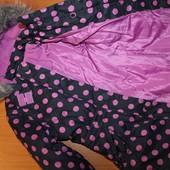 Зимняя куртка для девочки на 8 лет 128 см рост Бронь