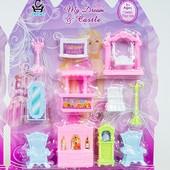 Большой набор кукольной мебели 11 предметов