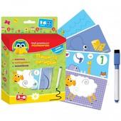 Розумничок, пиши та вытирай с маркером  vt1305-03 (УКР) Vladi Toys