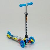 Детский трехколесный самокат Scooter Mini Print 1292