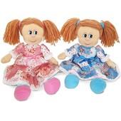 Мягк. игр. - кукла Варенька в ситцевом платье (муз., 22 см)в нетоварной упаковке